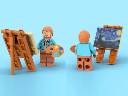 LEGO Van Gogh The Starry Night
