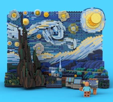 LEGO Van Gogh Starry Night