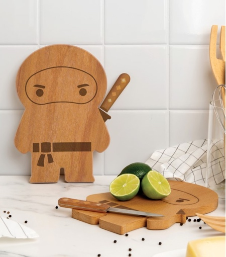 Ninja Cutting Board and Knife