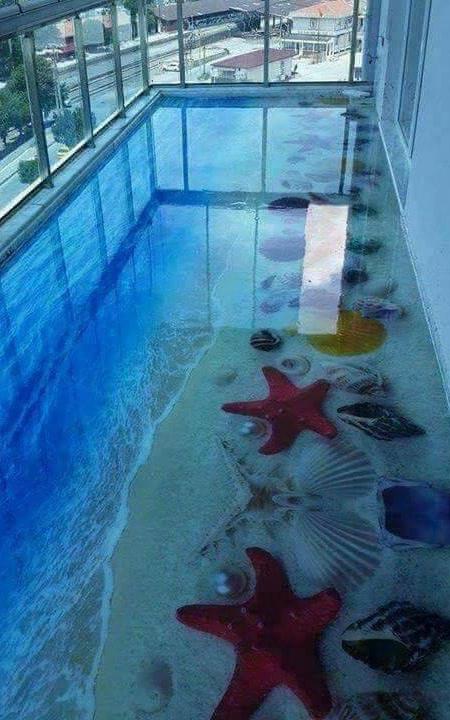 3D Epoxy Glass Floor
