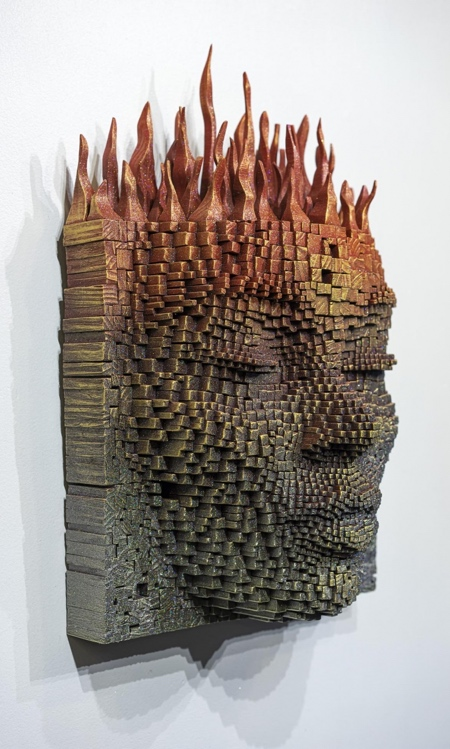 Gil Bruvel Wood Stick Face