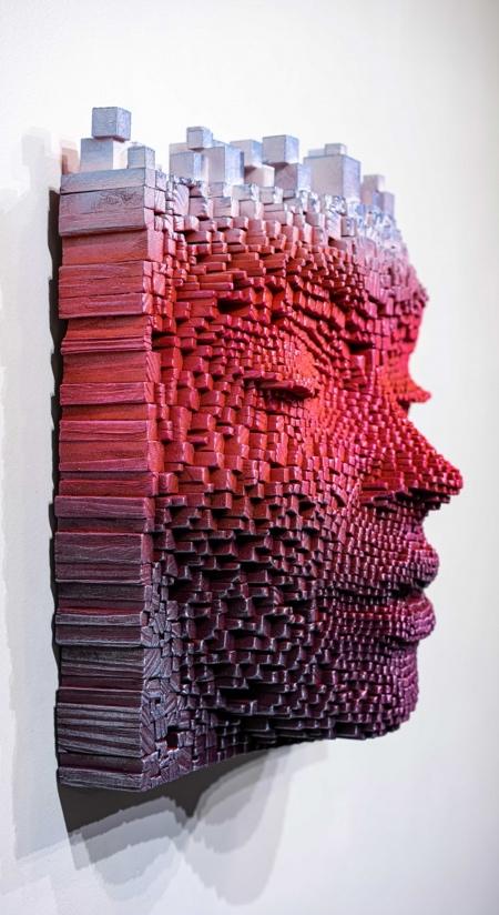 Gil Bruvel Wooden Stick Face