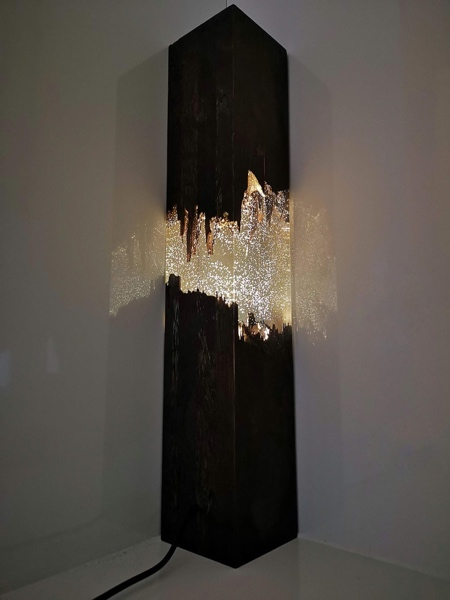 Epoxy Broken Wood Lamp