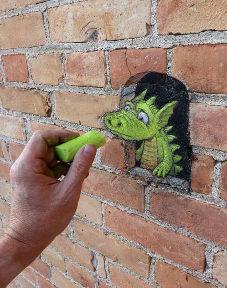 David Zinn Temporary Street Art
