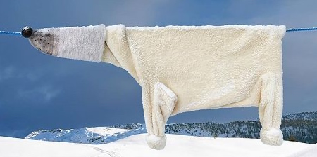 Polar Bear Made of Clothes