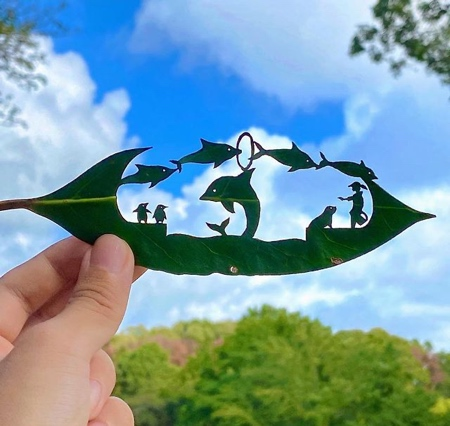 Japanese artist Lito Leaf Art