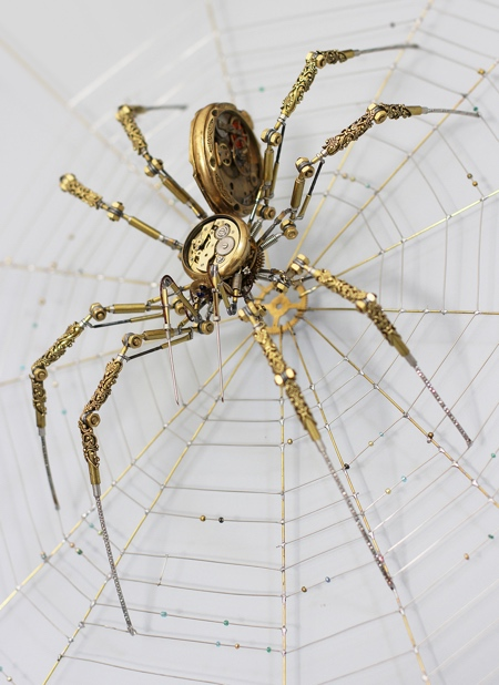 Steampunk Spider Sculpture