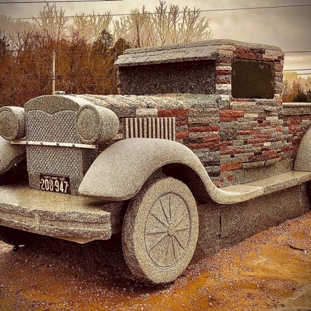 Truck Made of Stones