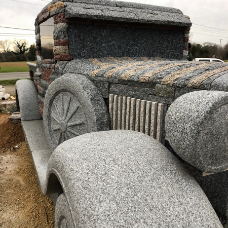 Truck Made of Rocks