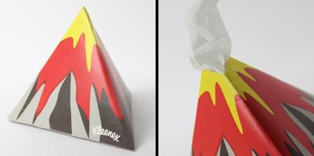 Volcano Tissue Box