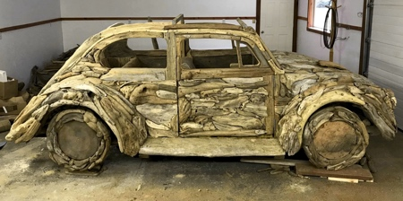 Car Made of Driftwood