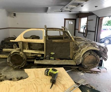 Driftwood VW Beetle