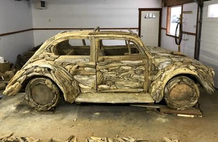 Driftwood Volkswagen Beetle Car