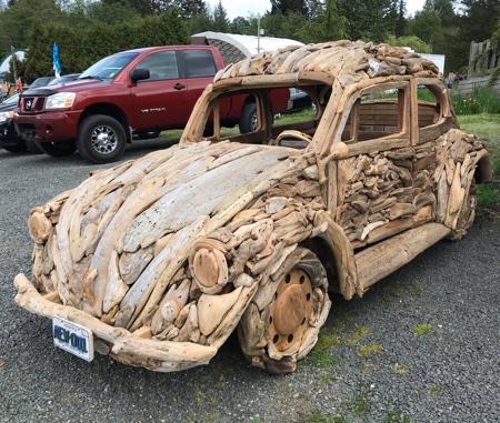 Driftwood VW Car