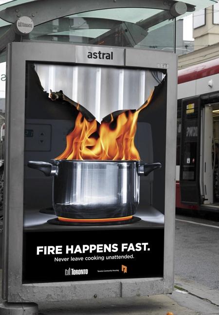 Toronto Fire Billboard
