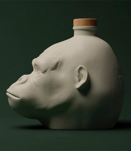 بطری با طرح بسیار زیبای میمون