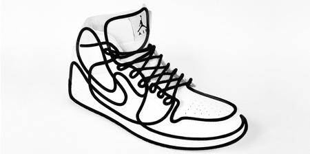 Line Art Nike Shoes