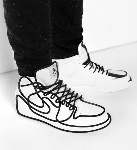 Line Art Jordan Shoes