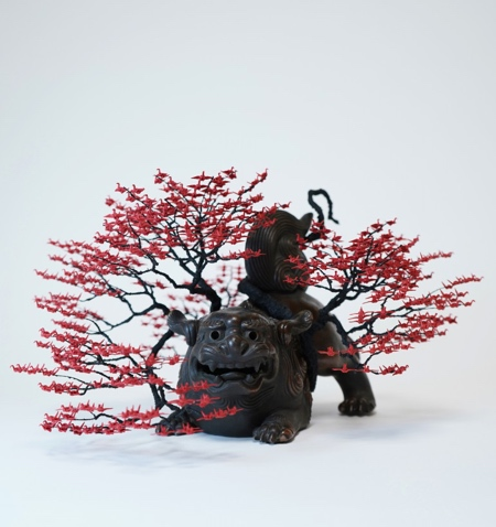 Origami Crane Bonsai Tree