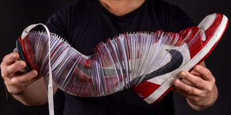 Layered Paper Nike Shoes