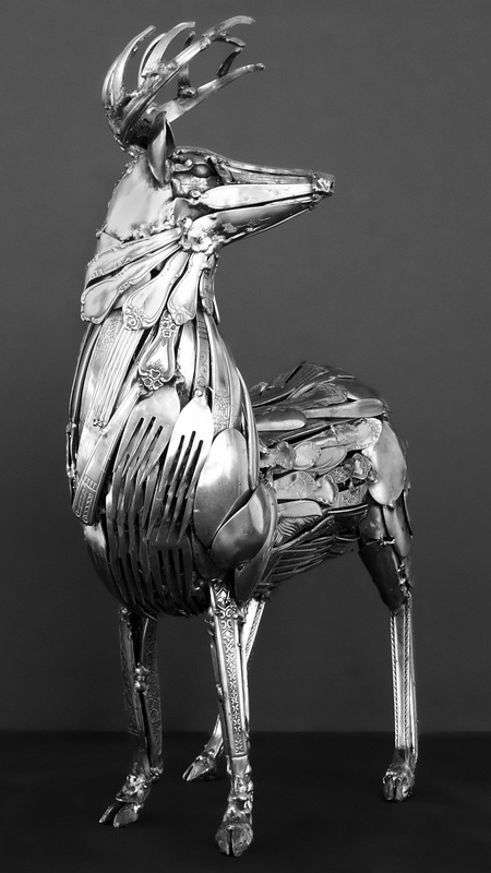 حیوانات ساخته شده با قاشق و چنگال