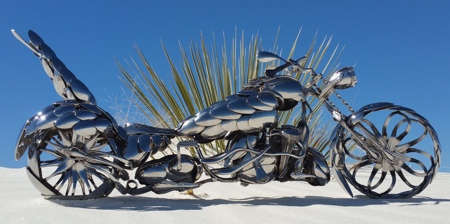 Motorcycles made of Spoons