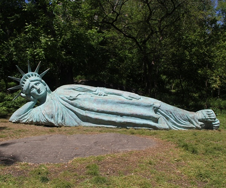 Reclining Liberty Statue
