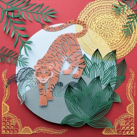 Hand Cut 3D Paper Art