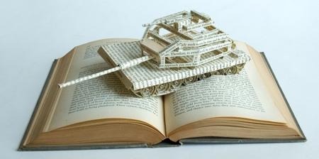 3D Book Pages Sculptures