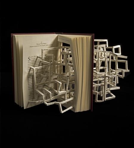 Stephen Doyle Book Sculptures