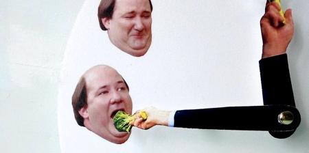 Kevin Eats Broccoli Clock