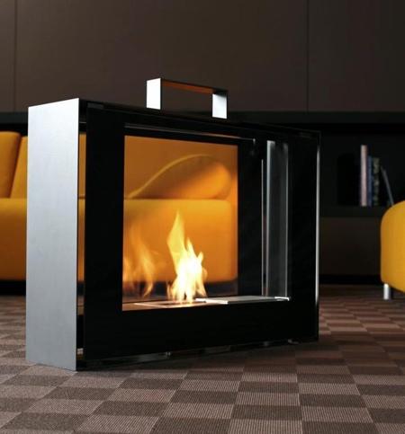 Suitcase Fireplace