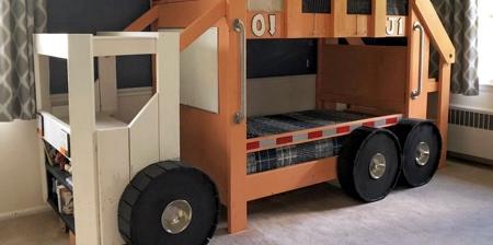 Garbage Truck Bunk Bed
