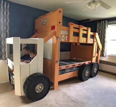 Garbage Truck Kids Bed