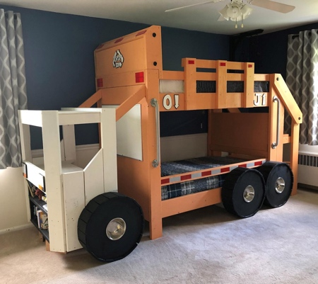 Garbage Truck Shaped Bed