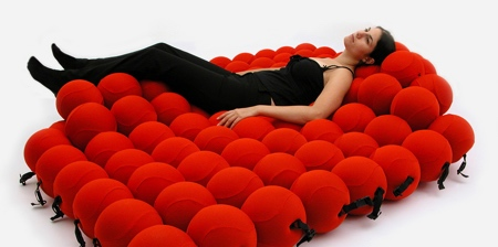 Bed Made of Balls