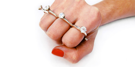 Brass Knuckles Ring
