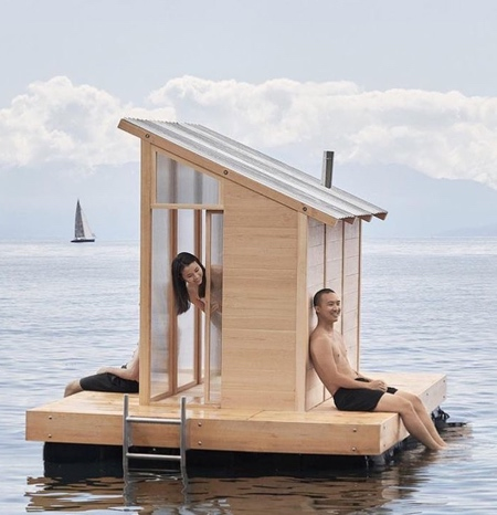 Sauna Floating on Water