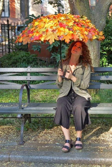 Fall Autumn Leaves Umbrella