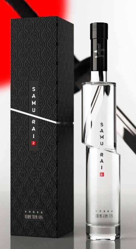 Samurai Vodka Bottle