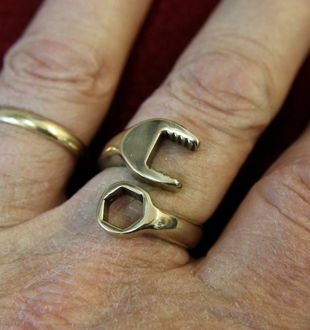 Gold Wrench Ring