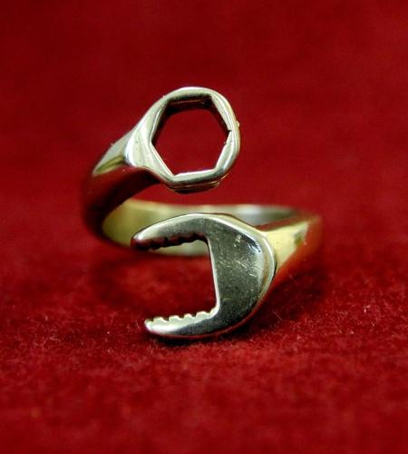 Golden Wrench Ring