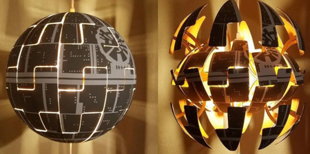 Exploding Death Star Lamp