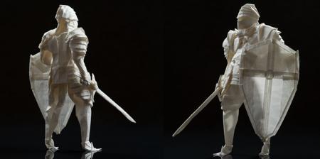 Origami Paper Knight