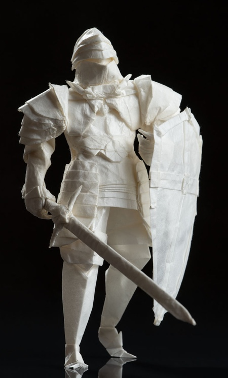 Knight Made out of Paper