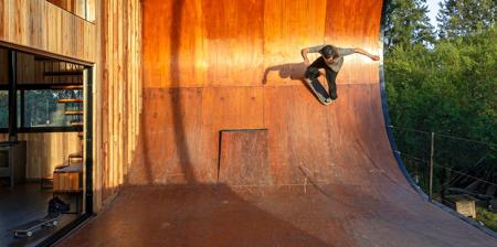 Skateboard Ramp House