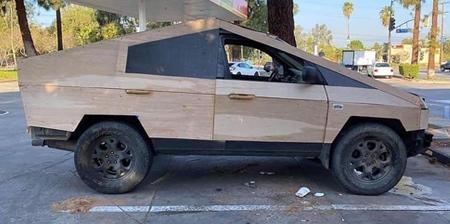 Plywood Cybertruck