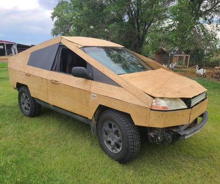 Wooden Cybertruck