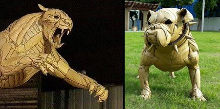 Cardboard Sculptures by Kai-Xiang Zhong