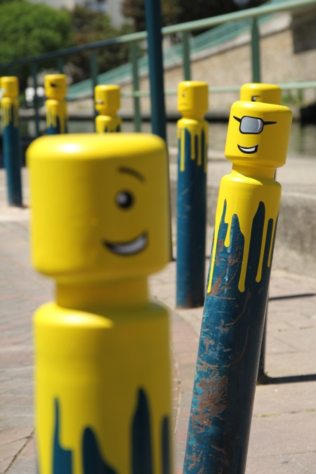 LEGO Cyclops Street Art